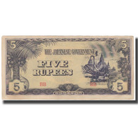 Billet, Birmanie, 5 Rupees, KM:15b, TTB+ - Myanmar