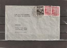 Chile ANTOFAGASTA AIRMAIL COVER TO Santiago 1936 - Chili