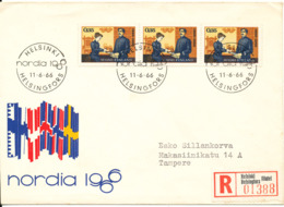 Finland Registered FDC 11-6-1966 With Cachet Sent Tampere - Finland