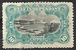 Belgian Congo   1895  Sc#18  10c MH  2016 Scott Value $4.50 - 1894-1923 Mols: Ungebraucht