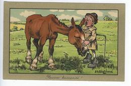 CPA - Pauvre Humanité ! -  Illustrateur - Shepheard - Cheval - Humoristique - Humour - Enfant - Shepheard