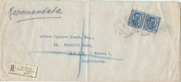 Italy Registered Cover Sent To England Genova 28-6-1929 (bended Cover) - 1900-44 Vittorio Emanuele III