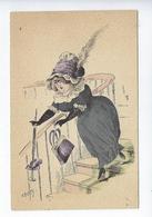 CPA - Femme - Costume - Chapeau - Humour - Humoristique - Illustrateur - Robert - Dessin - Robert