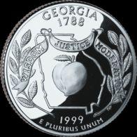 USA. 25 Cents. Quarter. States Of The USA. Georgia. UNC. 1999 D - 1999-2009: State Quarters
