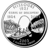 USA. 25 Cents. Quarter. States Of The USA. Missouri. UNC. 2003 D - 1999-2009: State Quarters