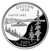USA. 25 Cents. Quarter. States Of The USA. Oregon. UNC. 2005 D - 1999-2009: State Quarters