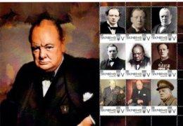Ukraine 2019, England History, Politician, Writer Winston Churchill, Sheetlet Of 9v - Ukraine