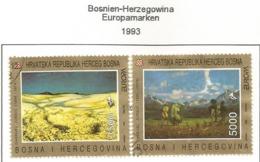 Bosnien-Herzegowina Kroatisch Mostar 1993 Mi.Nr. 7/8 , EUROPA CEPT Zeitgenössische Kunst - Gestempelt / Fine Used / (o) - 1993