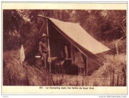 Carte Postale Saigon La Chasse En Indochine Campement De Chasseurs Dans La Forêt De Süoï Kiet   Trés Beau Plan - Viêt-Nam