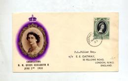 Lettre Fdc ?  Couronnement Reine 1953 - Tristan Da Cunha
