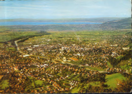 Austria - Postcard Used 1990 - View From Karrenseilbahn Mountain Station On Dornbirn And Lake Constance - 2/scans - Dornbirn