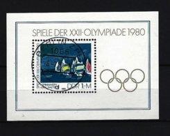 DDR - Block Nr. 60 Olympische Sommerspiele Moskau Gestempelt BERLIN - [6] République Démocratique