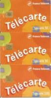 """3 Télécartes """" Télécarte"""" 50 - 120 U SO3 - GEM - 05/96 Utilisées N° 632/33 (Numérotation Justifiée à Droite Et à Gauche) - 1996"""