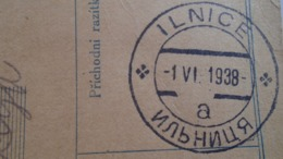 D168148  Czechoslovakia Parcel Card 1938 - PRAHA-  ILNICE  Ilonca Ільниця  UKRAINE - Altri