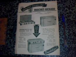 Publicitee  Anciene Tract Cuisinières FOURNAUX BRACHET RICHARD LYON/PARIS ANNEE?? - Altri