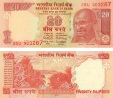India. Banknote. 20 Rupees. Mahatma Gandhi. UNC. 2017 - Inde
