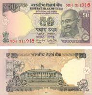 India. Banknote. 50 Rupees. Mahatma Gandhi. UNC. 2017. Pink - Inde