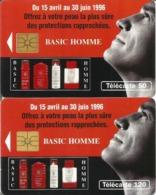 2 Télécartes BASIC HOMME 50 Et 120 U GEM - 04/96 Utilisées N° 617/18 - 1996