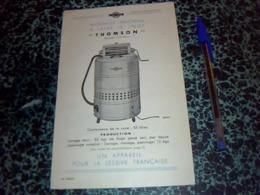 """Publicitee  Anciene Dépliant 3PAGES Machine A Laver Le LingevTHOMSON  """"la Aveuse Ideale """" - Publicité"""