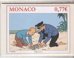 Encart Monaco Avec Timbre Et Enveloppe 1er Jour / Tintin /Hergé, 2013 - FDC