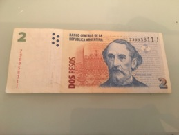 Billet 2 Pesos Argentin / Bartolome Mitre - Argentine
