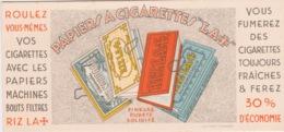 """PAPIERS A CIGARETTES  """"LA +""""lithographie MIETTE A Angoulême - Tobacco"""