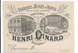 Maussane,carte 10x14 Fabrique Huiles Oives Moulin Stz Marie De L'esperance Henri Dinard Vallée Des Baux - Visiting Cards