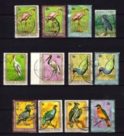 Afrique - Burundi - Les Oiseaux X 12 Oblitérés - Burundi