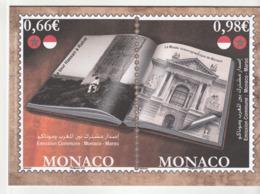 Encart Monaco Avec Timbre Et Enveloppe 1er Jour /Emission Commune Maroc , 2014 - FDC
