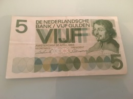 Billet 5 Gulden Amsterdam 1966 - [2] 1815-… : Reino De Países Bajos