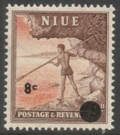 Niue. 1967 Decimal O/P. 8c MNH. SG 131 - Niue
