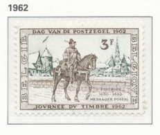 NB - [150077]SUP//**/Mnh-[1212] Belgique, Journée Du Timbre 1962, Postillon à Cheval Du 16ème Siècle (facteur), SNC - Día Del Sello