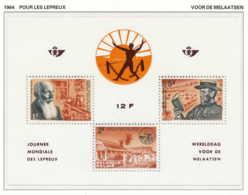 NB - [150227]SUP//**/Mnh-[BL35] Belgique 1964, Journée Des Lépreux, Dr Hansen, Léproserie Et Père Damien, Le BlocSNC - Maladies
