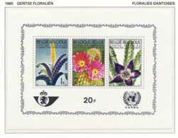 NB - [150314]SUP//**/Mnh-[BL38] Belgique 1965, Bloc Feuillet (faciale 20 FB), Floralies Gantoises 3, Fleurs, Vriesia, Ec - Végétaux