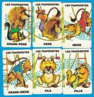 6 CARTES DU JEU DE 7 FAMILLES ANIMAUX DU CIRQUE FAMILLE LES TRAPEZISTE - Cartes à Jouer Classiques