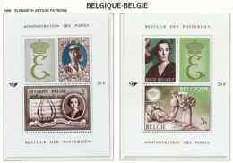 NB - [150404]SUP//**/Mnh-[BL40/41] Belgique 1966, Blocs Feuillets (faciale 40 FB) Reine Elisabeth, Musique, Violon, Part - Familles Royales