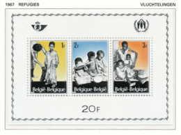 NB - [150496]SUP//**/Mnh-[BL43] Belgique 1967, Bloc Feuillet (faciale 20 FB), Réfugiés, Habillement, Nourriture, SNC - Réfugiés