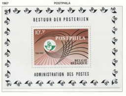 NB - [150543]SUP//**/Mnh-[BL44] Belgique 1967, Bloc Feuillet, Exposition 'POSTPHILA 1', Emblème De Pro-Post, SNC - Expositions Philatéliques