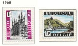 NB - [150626]SUP//**/Mnh-N° 1480/81, Tourisme, Louvain Et La Vallée De L'Ourthe, SNC - Bélgica