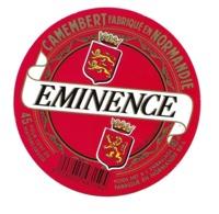 ETIQUETTE De FROMAGE Cartonnée. CAMEMBERT Fabriqué En NORMANDIE..EMINENCE.. - Cheese