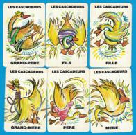 6 CARTES DU JEU DE 7 FAMILLES ANIMAUX DU CIRQUE FAMILLE LES CASCADEURS - Cartes à Jouer Classiques