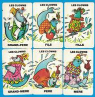 6 CARTES DU JEU DE 7 FAMILLES ANIMAUX DU CIRQUE FAMILLE LES CLOWNS - Cartes à Jouer Classiques