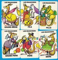 6 CARTES DU JEU DE 7 FAMILLES ANIMAUX DU CIRQUE FAMILLE LES MAGICIENS - Cartes à Jouer Classiques