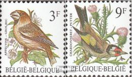 Belgien 2241x-2242x (kompl.Ausg.) Normales Papier Postfrisch 1985 Vögel - Belgien