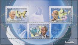 Guinea 4263-4265 Kleinbogen (kompl.Ausg.) Postfrisch 2006 Friedenspolitiker - Guinea (1958-...)