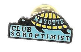 Pins - Club Soroptimist - Mayotte - Vereinswesen
