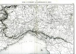 PIEMONT Et LOMBARDIE - 1860 - Carte D'époque Gravée Par Ch. DYONNET, Dressée Par A.R. FREMIN - Cartes Géographiques