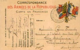 FRANCE – Correspondance Des Armées De La République  Ayant Circulé En Franchise Du Secteur Postal 502 Vers ----> - Military Service Stampless