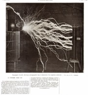 "LA FOUDRE CHEZ SOI  "" Nikola TESLA ""  1911 - Ciencia & Tecnología"