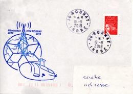 Rénovation Du CTM (Centre De Transmissions Marines) ROSNAY Emeteur à Destination Des Sous Marins Nucléaires Obl. Rosnay - Postmark Collection (Covers)
